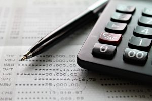 Calculator and financial records