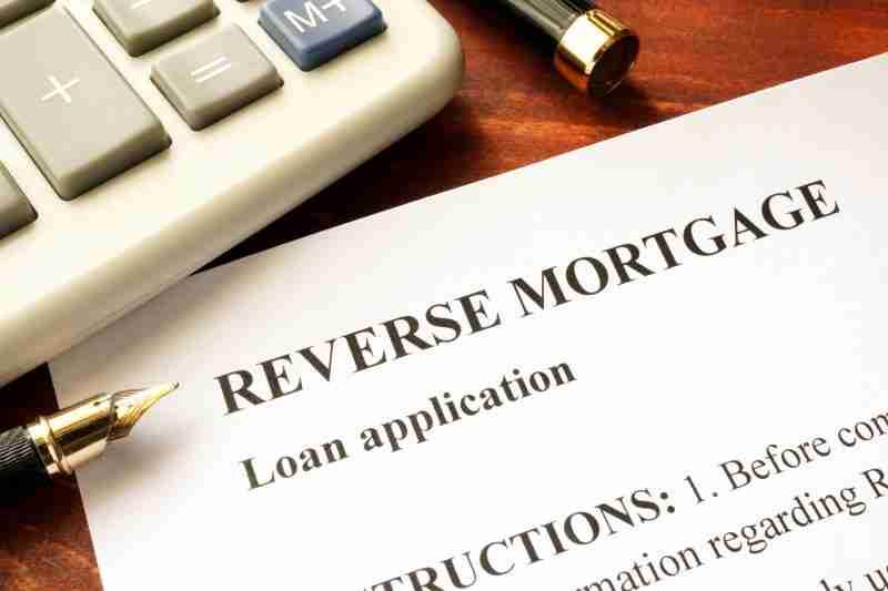 Reverse mortgage loan application
