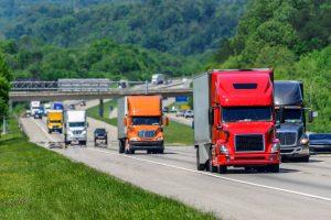 Heavy traffic on interstate