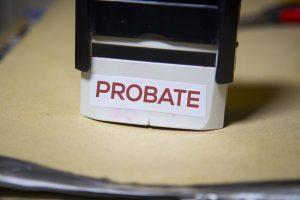 Probate stamp on folder
