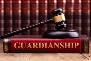gavel on guardianship book